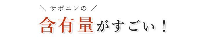 田七人参はサポニンの含有量がすごい